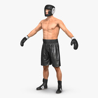3d adult boxer man