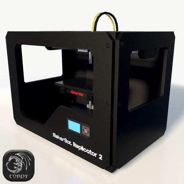 3d maker replicator 2 printer model