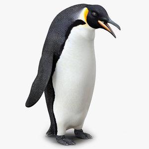 emperor penguin pose 3 3d max