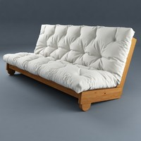 sofa futon ikea 3d model