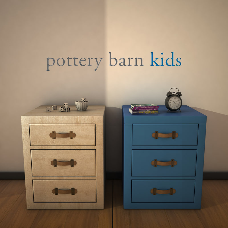 3d potterybarn tuckernightstand model