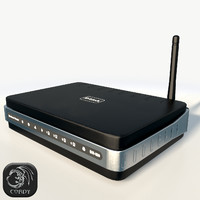 Wireless router D-Link DIR320 low poly
