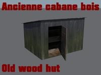 ancienne cabane bois 3d max