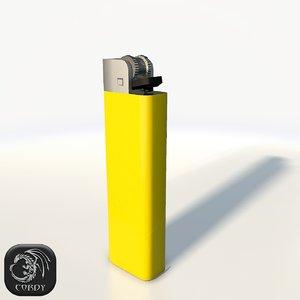 3d model cigarette lighter cigar