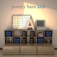 3d potterybarn storagesystem