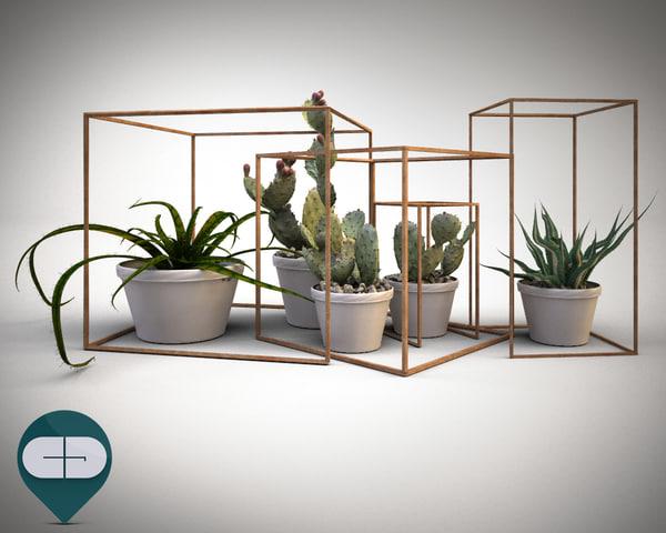 3d object interior set model