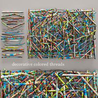 decorative colored threads obj