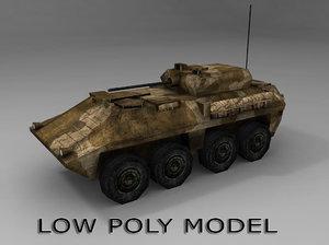 stryker apc vehicle 3d obj