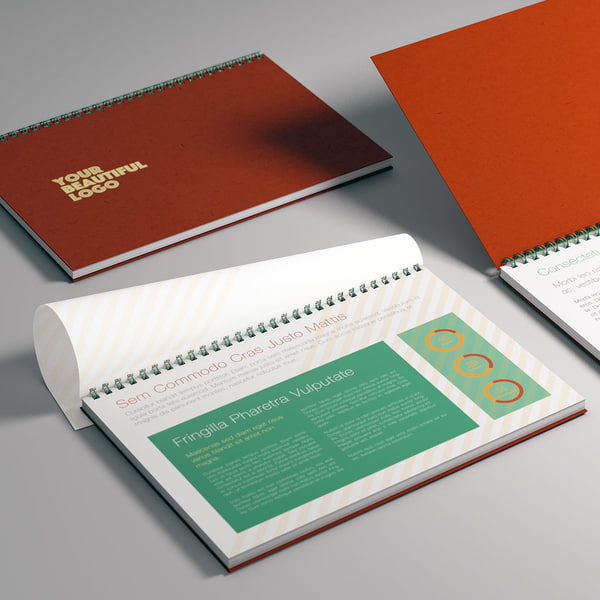 realistic spiral bound notebook 3ds