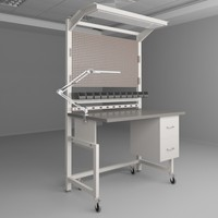 3d max height adjustable workbench