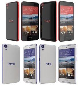 htc desire 628 black 3d model