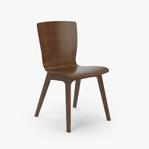 crest bentwood chair 3d model