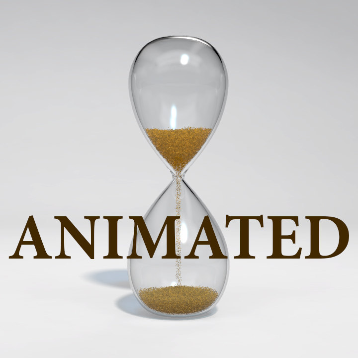 hourglass animation 3d model
