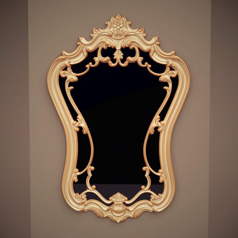 bassett mirror hermosa 3d max
