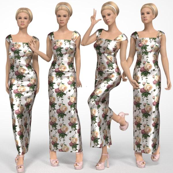 female mannequin 3d obj