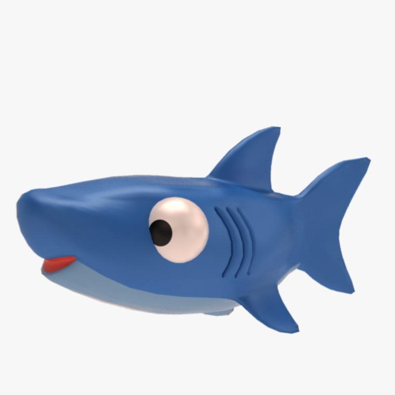 3d toy shark