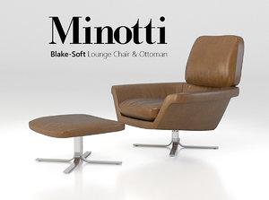 blake-soft lounge chair set 3d 3ds