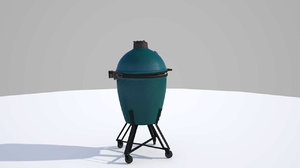 obj big green egg grill