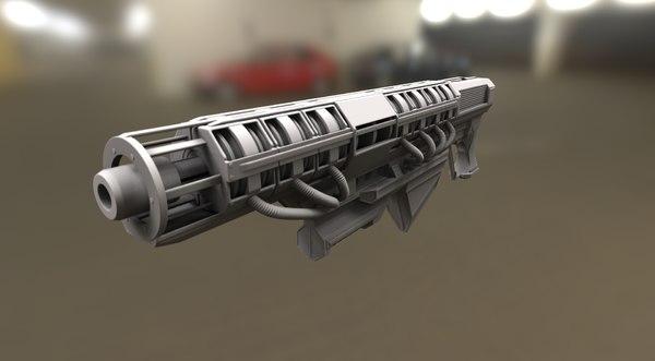 3d version rail gun