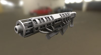 Rail Gun High Poly Version