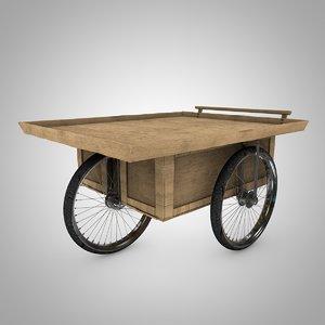3d apple cart model