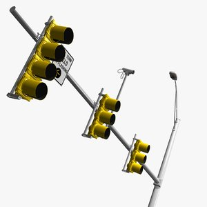 standard traffic 3d model