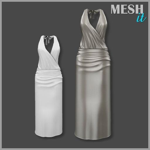 dress beige 3d model