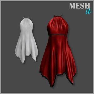 3d dress red summer