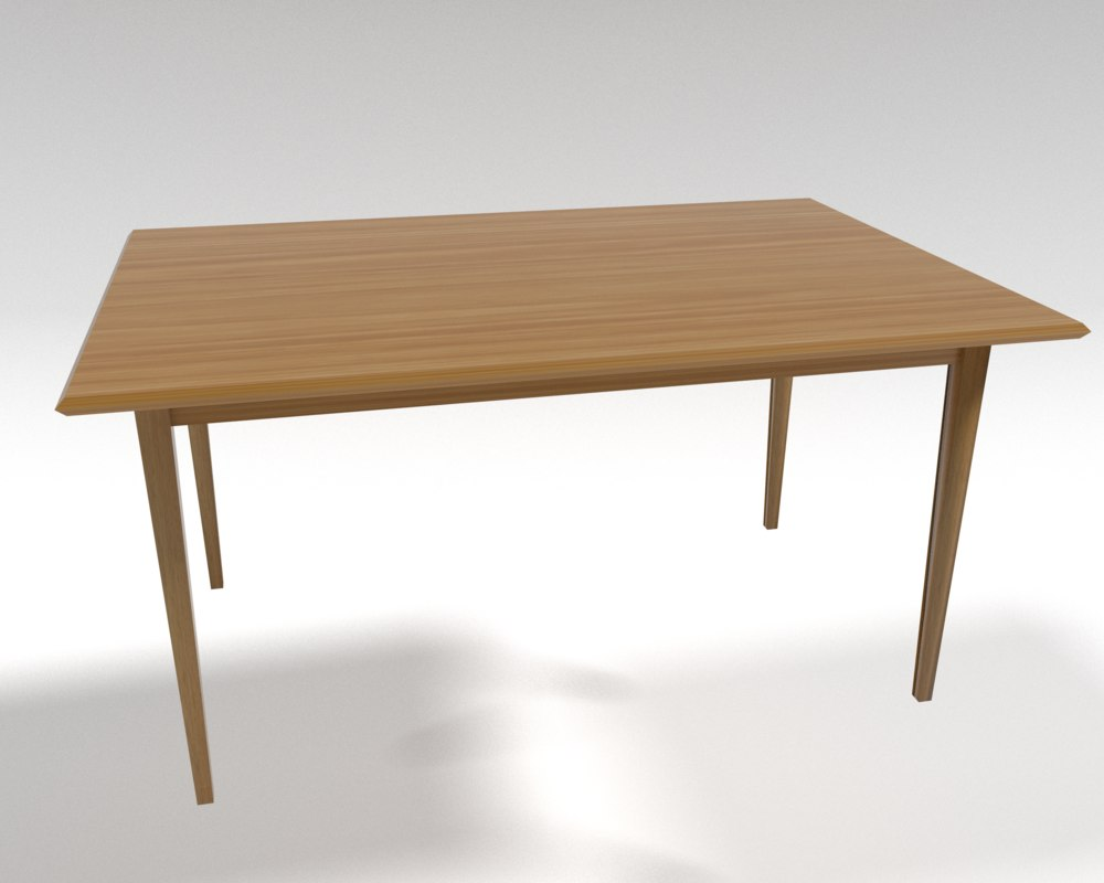 free simple table 3d model