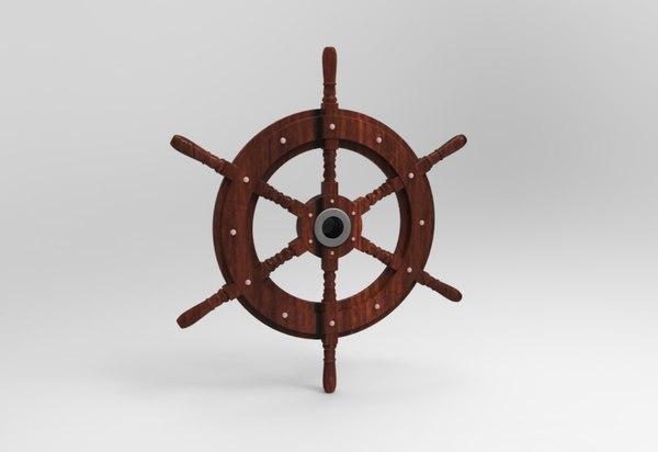 obj boat wheel captain