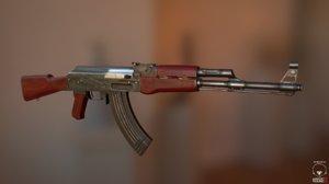 ak-47 ready 3d c4d