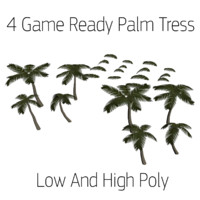 Palm Trees (Low and High Poly)