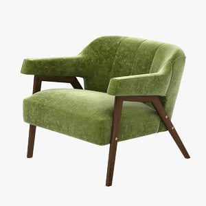 3d model of chair lounge