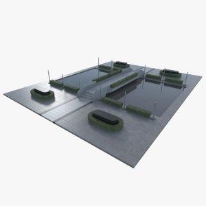 3d landscape architectural model
