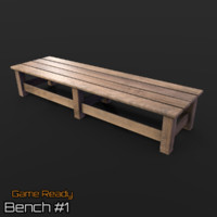 ready bench 3d model