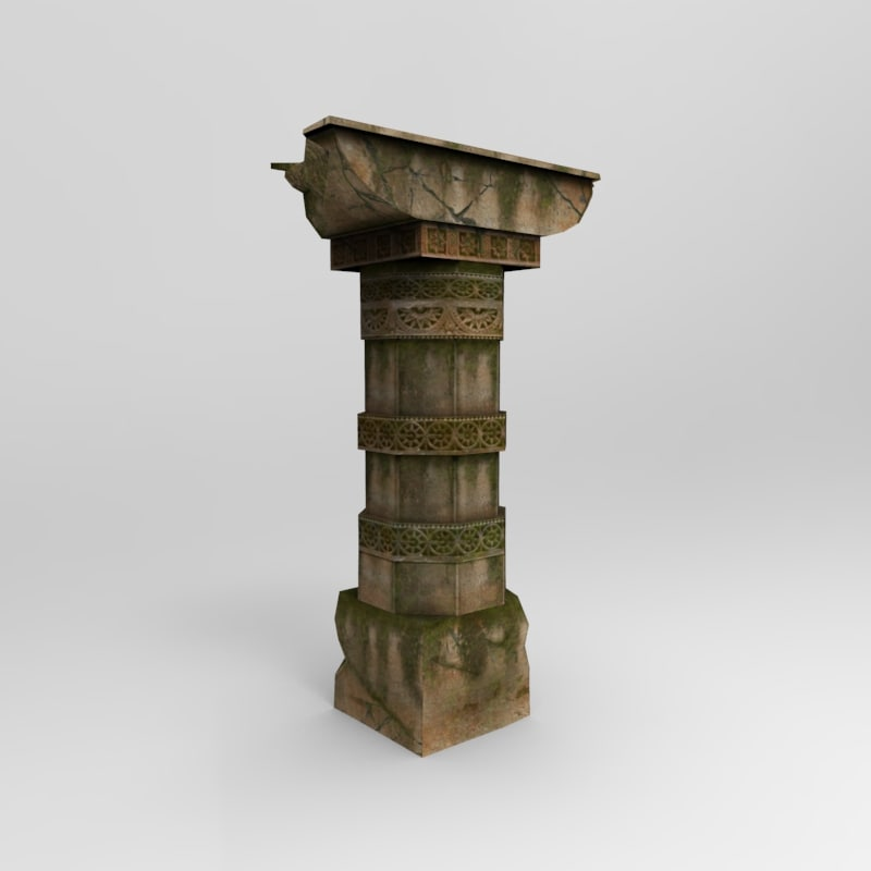 3d max stone pillar