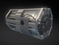 Emergency Backup Generator High Poly