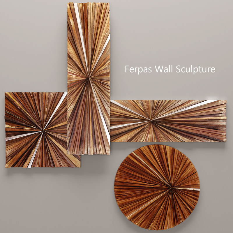 3d model ferpas wall sculpture