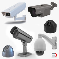 3d model of cctv cameras 2 security