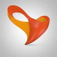 3d model 2016 paralympics logo rio