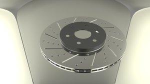3d model of brake disk