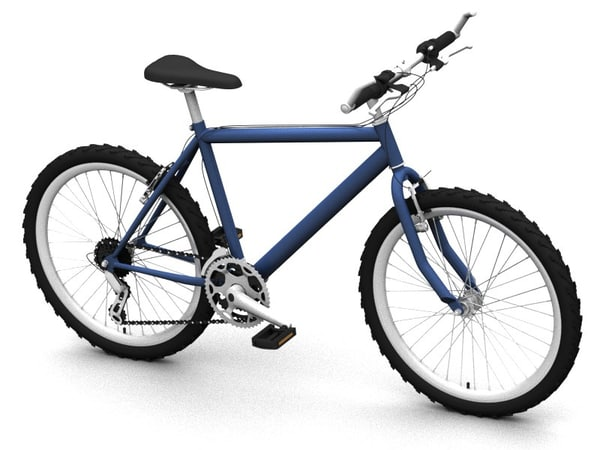 3d city bicycle model