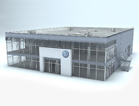 3d volkswagen dealership showroom model