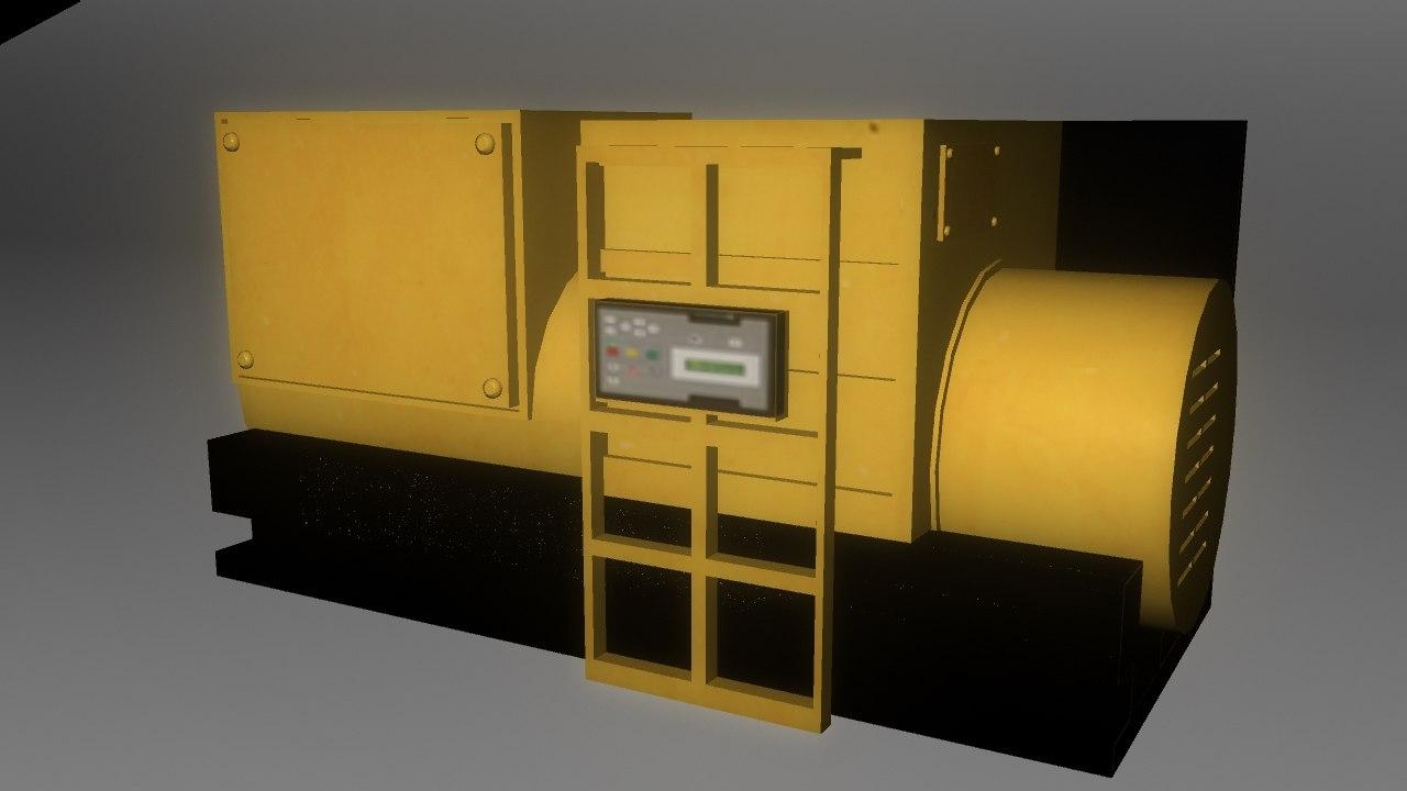 obj power generator low-poly