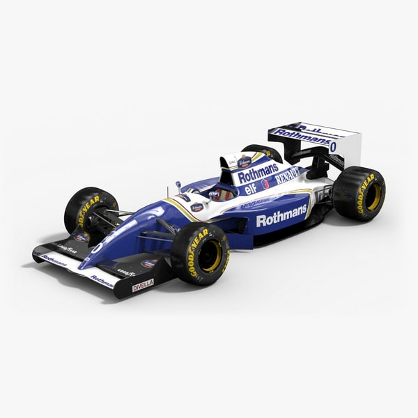 williams fw16b formula 1 3d model
