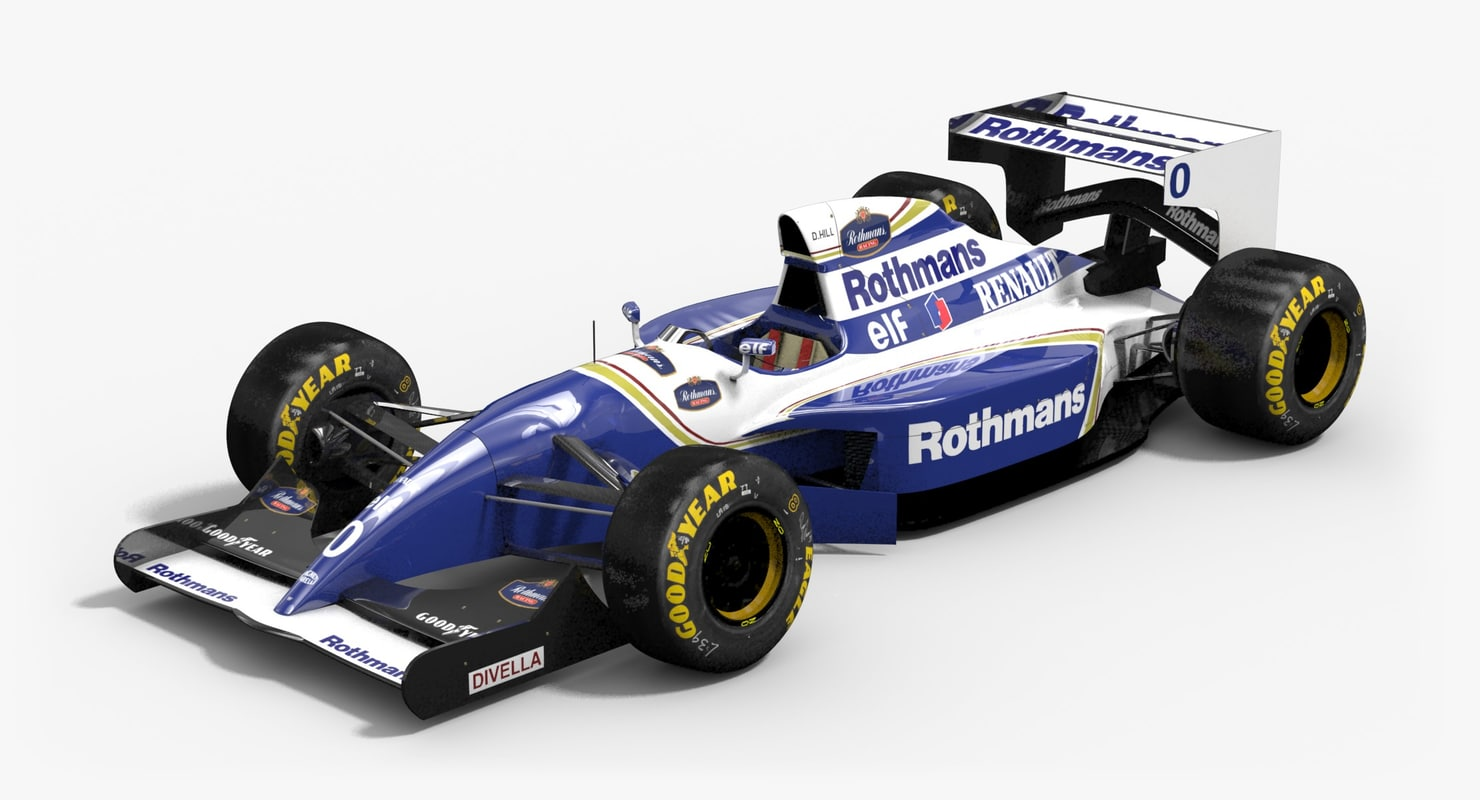 williams fw16b formula 1 3d model