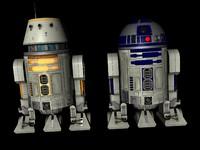 3d model droids d4 d2