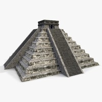 Low poly Mayan Pyramid - Chichen Itza