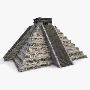 mayan pyramid - chichen itza 3d model