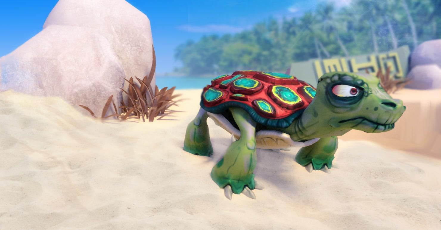 3d stylized turtle animation model